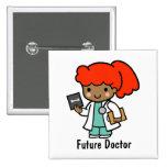Future Doctor 2 Inch Square Button
