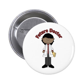 Future Doctor African American Girl Pinback Buttons