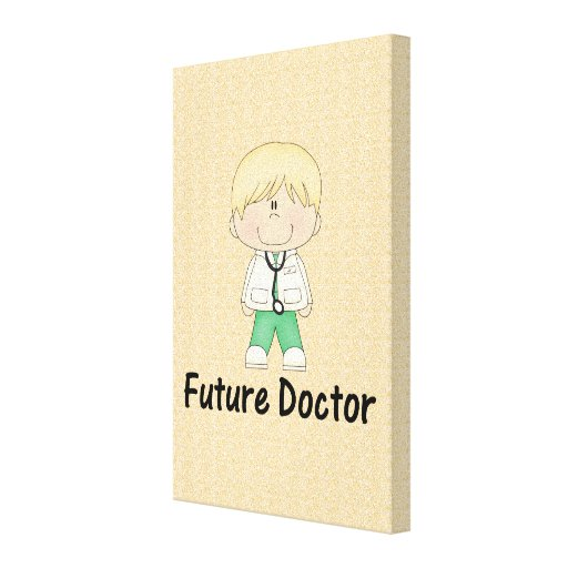 future doctor (boy) canvas print