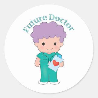 Future Doctor Boy Classic Round Sticker