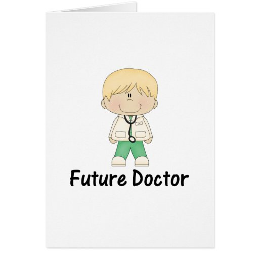 future doctor (boy) greeting cards