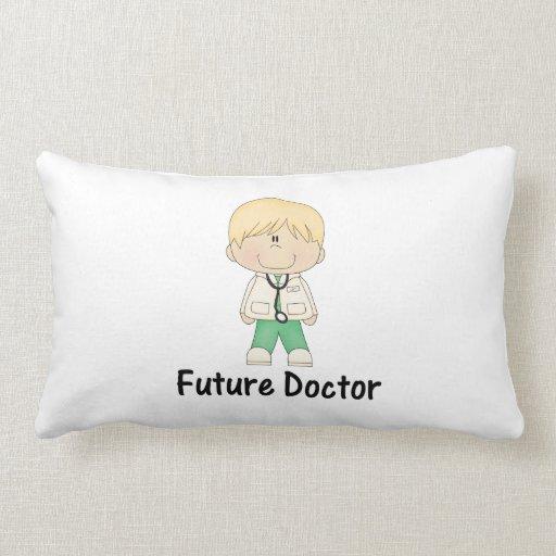 future doctor (boy) throw pillow