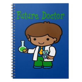 Future Doctor Dark Skin Spiral Notebook