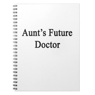 Future doctor de tía libro de apuntes con espiral