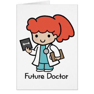 Future Doctor - Girl Greeting Cards
