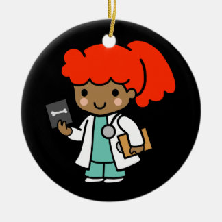 Future Doctor Double-Sided Ceramic Round Christmas Ornament