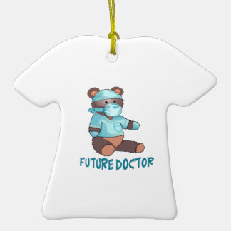 FUTURE DOCTOR Double-Sided T-Shirt CERAMIC CHRISTMAS ORNAMENT