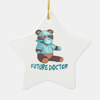FUTURE DOCTOR Double-Sided STAR CERAMIC CHRISTMAS ORNAMENT