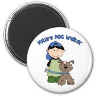 Future Dog Walker - Boy Fridge Magnet