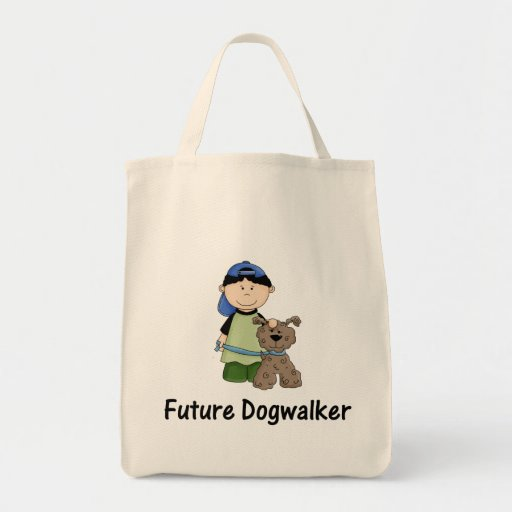 future dogwalker (boy) tote bags