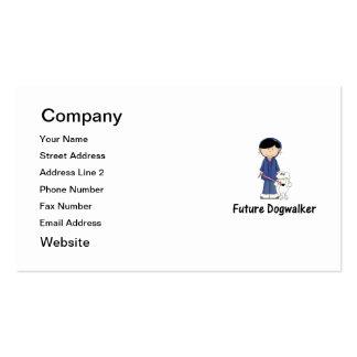 future dogwalker (girl) business card template