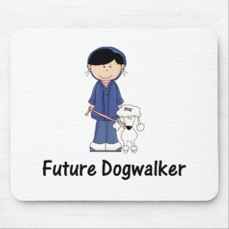 future dogwalker (girl) mouse pad