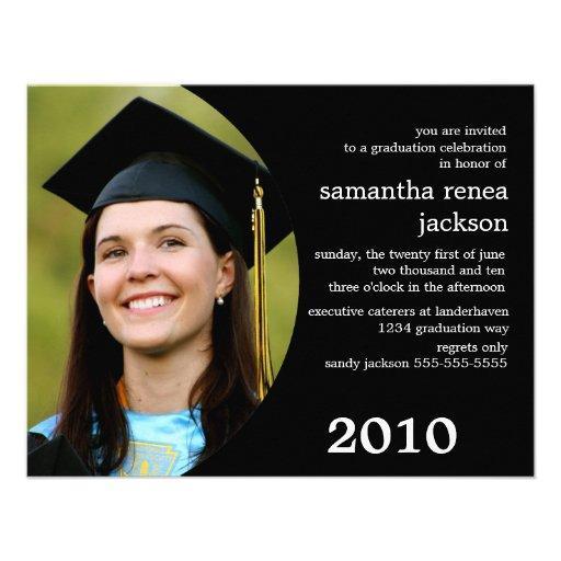 future dreamer graduation invitation black - Personalized Graduation Invitations