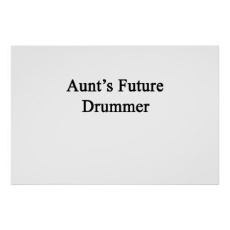 Future Drummer de tía Póster