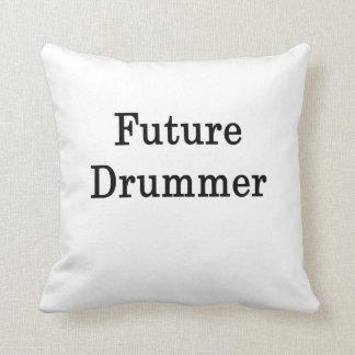 Future Drummer Throw Pillows