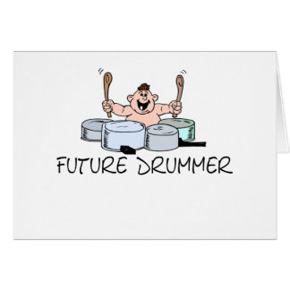 Future Drummer T-shirts and Gifts. Card
