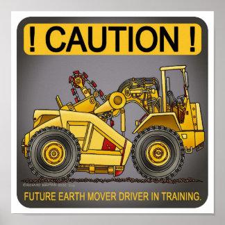 Future Earthmover Scraper Driver Poster Print