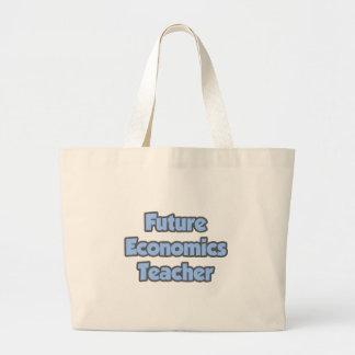 Future Economics Teacher Canvas Bags
