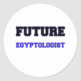 Future Egyptologist Classic Round Sticker