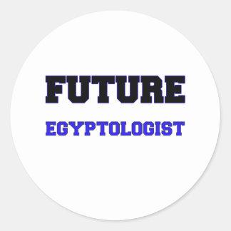 Future Egyptologist Classic Round Sticker