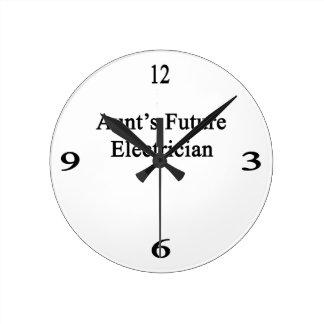 Future Electrician de tía Reloj Redondo Mediano