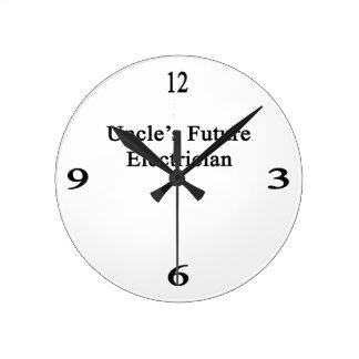 Future Electrician de tío Reloj Redondo Mediano