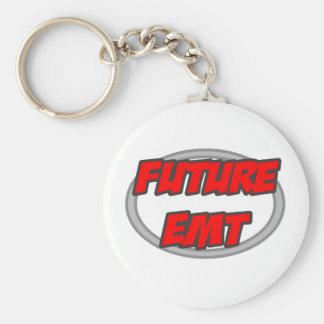 Future EMT Basic Round Button Keychain