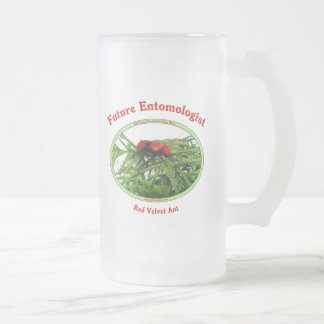 Future Entomologist Loves Bugs Frosted Glass Beer Mug