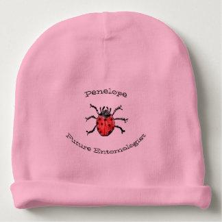Future Entomologist Red Ladybugs Baby Girl Name Baby Beanie