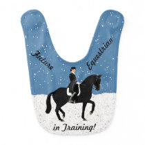 Future Equestrian Dressage Baby Bib