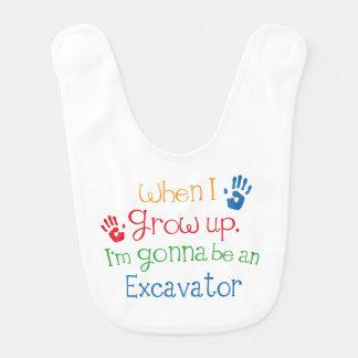 Future Excavator Baby Bib