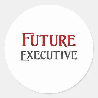 Future Executive Classic Round Sticker