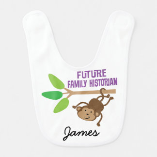 Future Family Historian Personalized Baby Bib