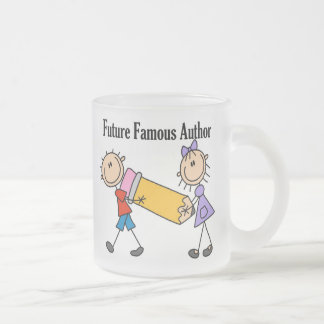 Future Famous Author Frosted Glass Coffee Mug