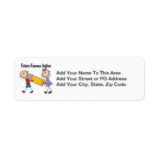 Future Famous Author Label