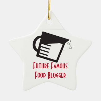 Future Famous Food Blogger Ceramic Ornament