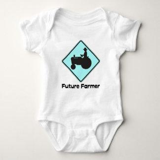 Future Farmer Baby Blue Baby Bodysuit