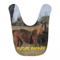 Future Farmer Horse Baby BIB