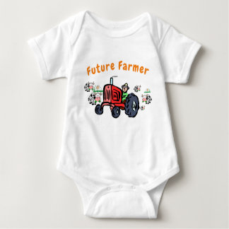 Future Farmer on Tractor Body Suit Baby Bodysuit