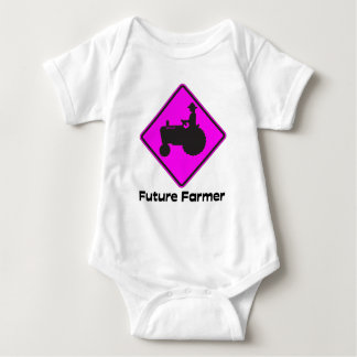 Future Farmer Pink Baby Bodysuit