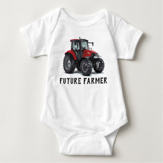 Future Farmer Red Tractor Equipment Farming Baby Bodysuit