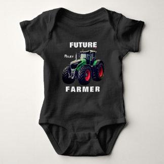 """Future  Farmer""  & Tractor Baby Bodysuit"