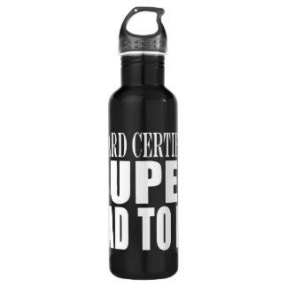 Future Fathers : Board Certified Super Dad to Be Water Bottle