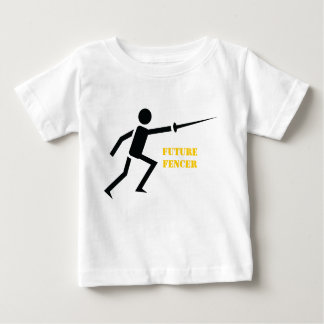 Future fencer black silhouette fencing custom t shirt