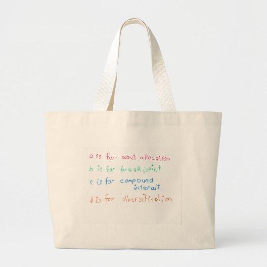 Future Financial Advisor Large Tote Bag