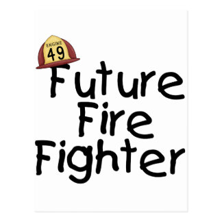 Future Fire Fighter Tshirts and Gifts Postcard