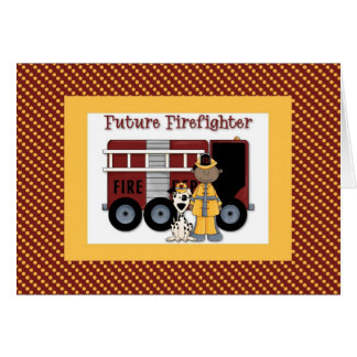 Future Firefighter African American Card