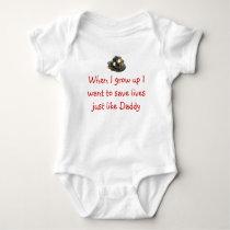 Future Firefighter Baby Bodysuit