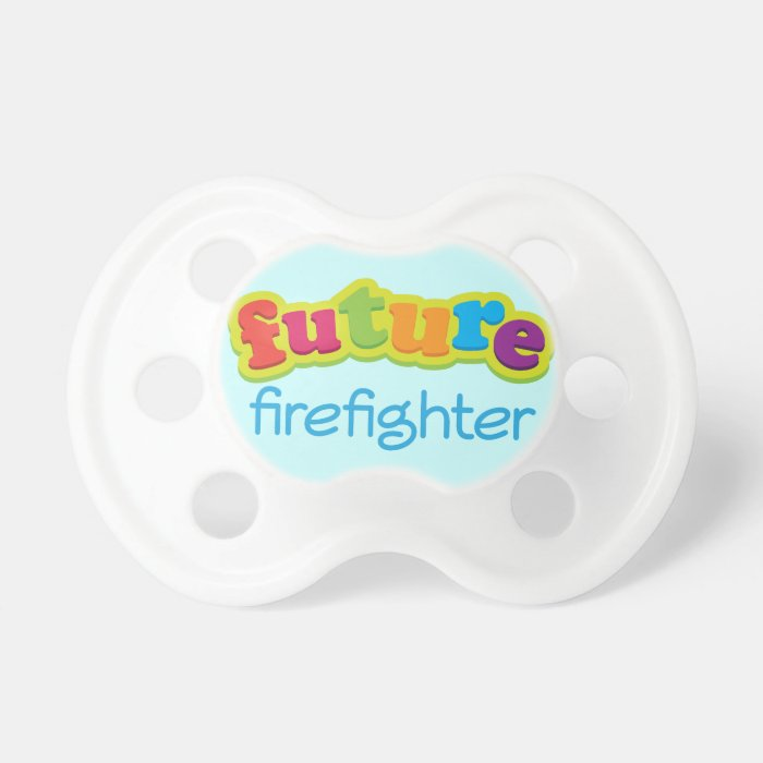 Future Firefighter Baby Shower Custom Gift Pacifier