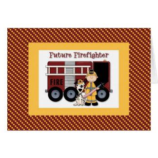 Future Firefighter Blonde Card